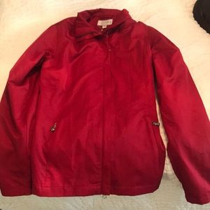 Red Cutter & Buck weather tec jacket